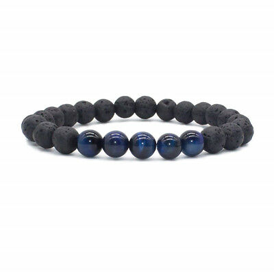 8mm Beads Natural Aromatherapy Lava Stone Healing Bracelet For Men Women Jewelry 5