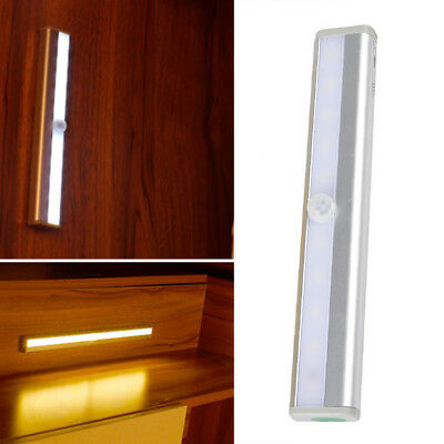 10 LED Motion Sensor Cabinet Bar Cupboard Strip Night Light Home Supply Lamp 6