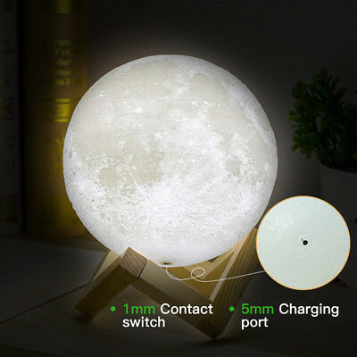 Dimmable 3D Magical Moon Lamp USB LED Night Light Moonlight Touch Sensor Lamp 2