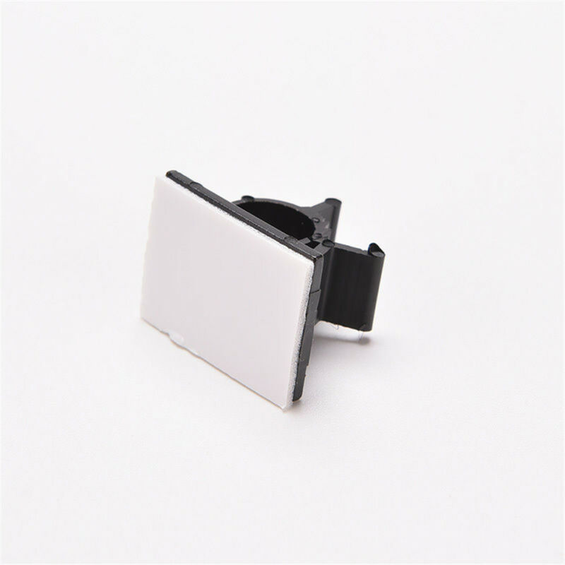 Lot 10pcs Cable Clips Adhesive Cord Management Black Wire Holder Organizer Clamp 9