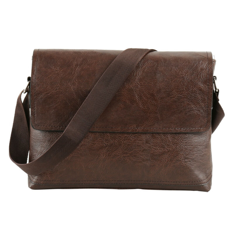 NEW Fashion Men Retro Leather Messenger Shoulder Bag Satchel Business Briefcase 8