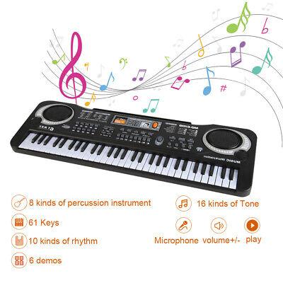 61 Key Music Electronic Keyboard Electric Digital Piano Organ with Microphone 2