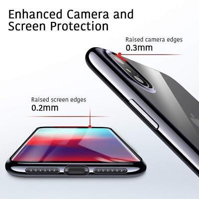 Coque iPhone X XS Max XR 2018 Transparente Gel Silicone Souple Cadre Brillante 7