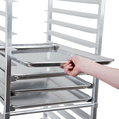 "12 PACK Full Size 18"" x 26"" Pans + 20 Pan Rack Commercial Dough Baking Bun Sheet"