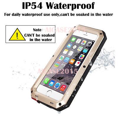 HEAVY DUTY Shockproof Waterproof Aluminum Metal Cover Case Fr iPhone X 11 8 7 6s 3