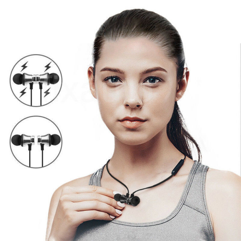 Earbuds Headphone Bluetooth 4.2 Stereo Earphone Wireless Magnetic Headset 3