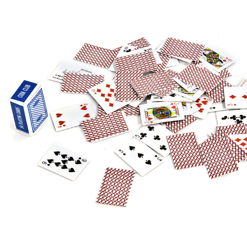 Mini Cute 1:12 Dollhouse Miniatures Poker Home Decoration Poker Playing Cards 8