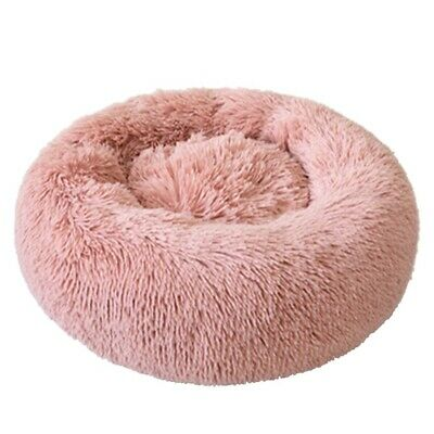 Donut Plush Pet Dog Cat Bed Fluffy Soft Warm Calming Bed Sleeping Kennel Nest 5