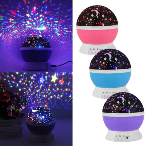 Beautiful Led Star Sky Starry Night Projector Light Lamp For Kids Baby Bedroom Cad