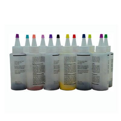 12 Colour Bottle Tie Dye Kit + 40 Rubber Band + 4 Pairs Vinyl Gloves DIY Kit BO 2