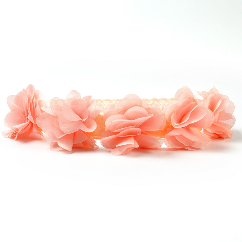 Cute Lace Flower Kids Baby Girl Toddler Headband Hair Band Headwear Accessories 10