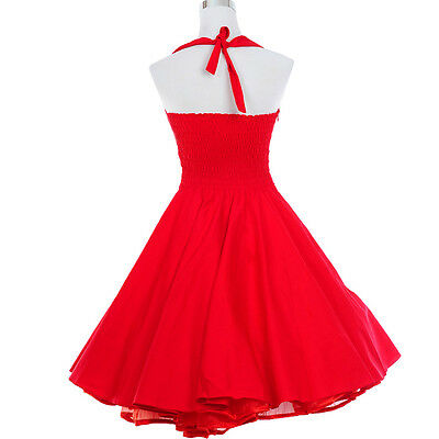 05f417085e9e ... Marilyn Monroe 50s 60s Style Vintage Retro Dress Rockabilly Swing Party  Dresses 11