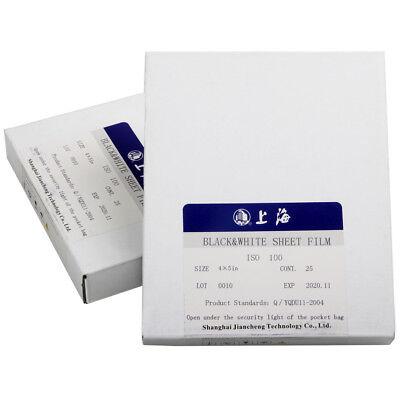 2 Boxes Shanghai GP3 4x5 Black & White B/W B&W Negative ISO 100 Sheet Film Fresh 4