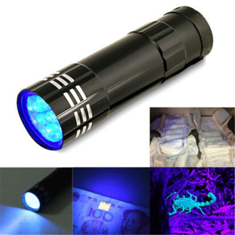 395/365 nM UV Ultra Violet LED Flashlight Blacklight Torch Light Inspection Lamp 2