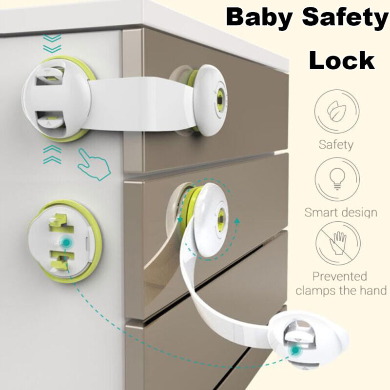 360 Rotation Baby Safety Lock Window Cupboard Drawer Refrigerator Cabinet Lock 2