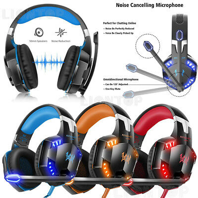 3.5mm Gaming Headset Mic Headphones Stereo Surround for PS3 PS4 Xbox ONE 360 PC 4