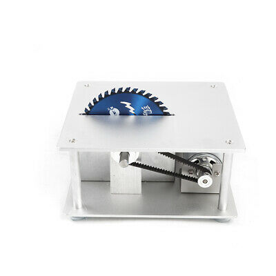 Electric Precision Bench Top Table Saw Woodworking with 3 Blades+cutting plate 4