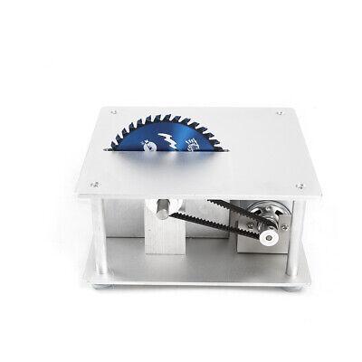 Mini Precision Table Saw DIY Woodworking Lathe Polisher Cutting Machine+3 blades 4