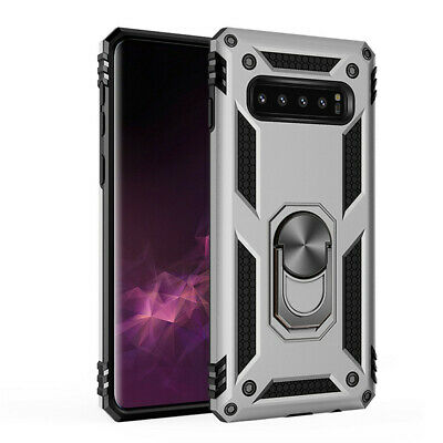 For Samsung S10e S10 Plus S9 S8 Armor Shockproof Magnetic Ring Stand Case Cover 10