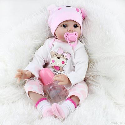 "22"" Reborn Baby Dolls Vinyl Silicone Handmade Girl Kids Gift Toys Newborn Baby 7"