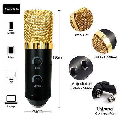 USB Condenser Microphone Sound Recording Audio Studio Brocasting w/ Tripod Stand 2