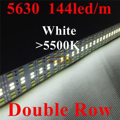 Embedded Aluminum Shell PC Cover Dual Row 5630 Led Strip Bar Light 12V 1M 0.5M 9
