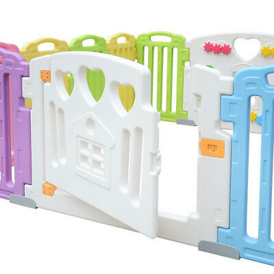 Baby Playpen Kids 14 Panel Activity Centre Safety Play Yard Home Indoor Outdoor 9