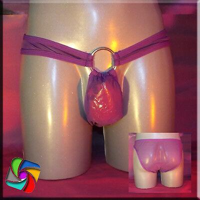Slip mit Ring Transparent - Das erotische Etwas - Rot (71) 5