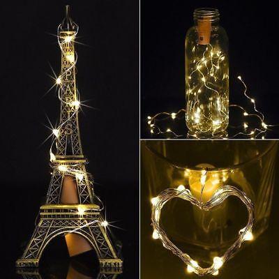 10 20 30 LED Cork Shaped Copper Wire String Light Wine Bottle For Decor RD494 12