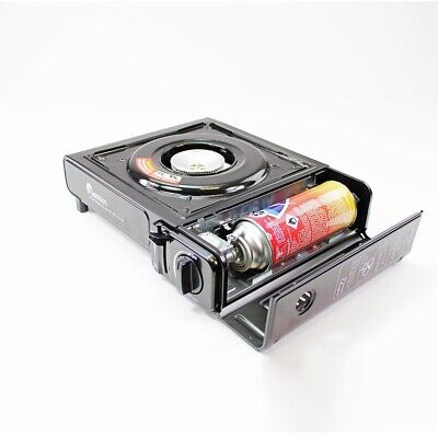 Portable Camping Gas Cooker Stove Single Burner Carry Bag Butane BBQ Outdoor 3