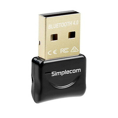Simplecom USB Bluetooth 4.0 Widcomm Adapter Wireless Dongle with A2DP EDR 2