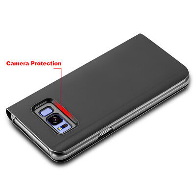 Slim Cover Luxury Flip Stand Case for Samsung Galaxy S10 S9 S8 Plus S7 Note 9 8 5