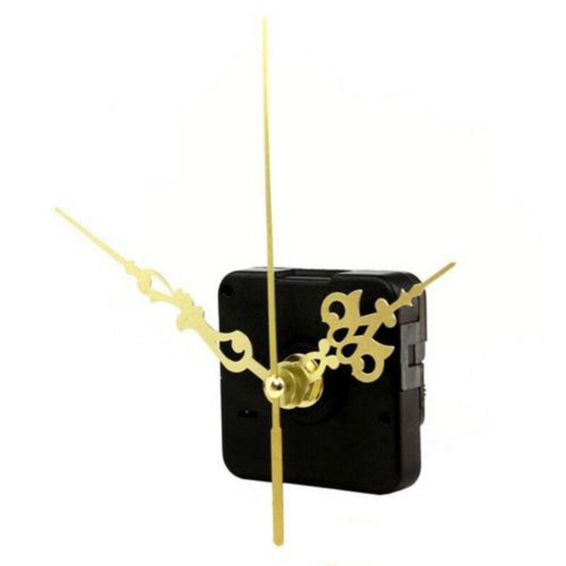 Clock Quartz Movement Mechanism Gold Hands DIY Repair Replacement Parts Set FS 4