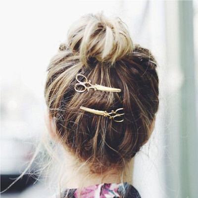 Women's Girls Geometric Metal Hair Clips Barrette Slide Grips Hair Clip Hairpins 11
