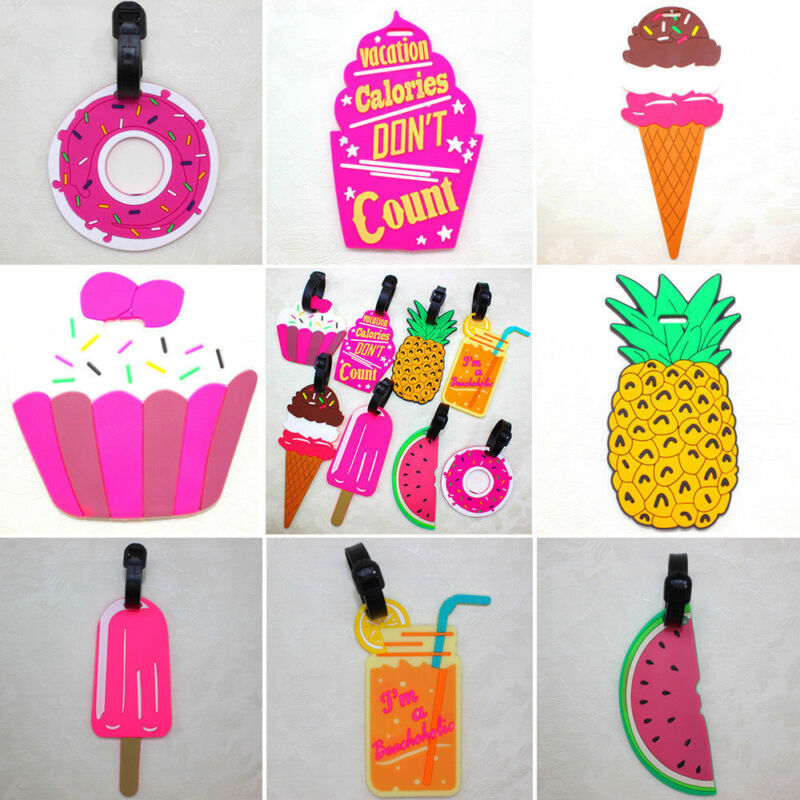 Cute Silicone Luggage Baggage Tags Name Address ID Suitcase Travel Labels Gifts 5