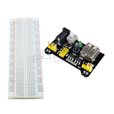 MB-102 Solderless Breadboard Protoboard 830 Tie Points 2 buses Test Circuit 2