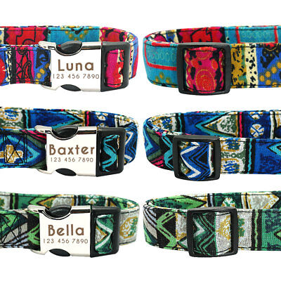 Personalised Dog Collar Heavy Duty Buckle Custom Name ID Free Engraved & D-ring 6
