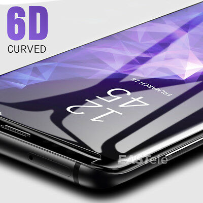 6D Samsung Galaxy S9 S8 Plus Note 9 8 Full Cover Tempered Glass Screen Protector 6