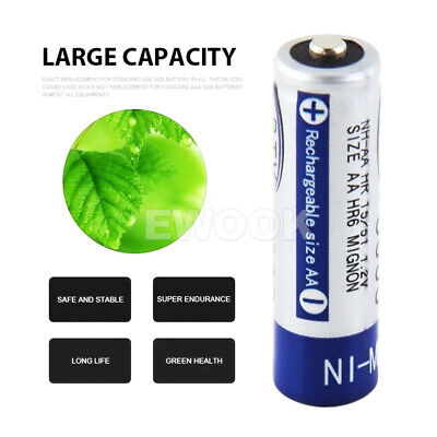 OZ 4-20X BTY AA Rechargeable Battery Recharge Batteries 1.2V 3000mAh Ni-MH 6