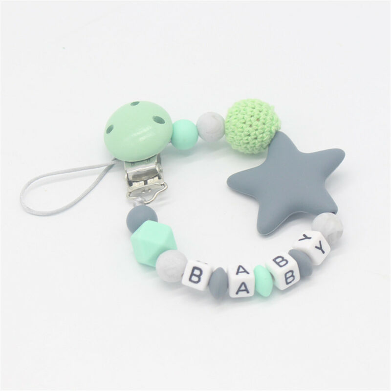 Baby Silicone Pacifier Chain Teething Soother Chew Toy Dummy Clips New Hot 7