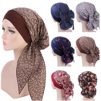 Women Cancer Hat Chemo Pirate Cap Muslim Hair Loss Head Scarf Turban Head Wrap 3