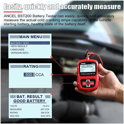 Digital Battery Analyzer 12V 100 -1100CCA Car Battery Load Tester ANCEL BST200 2