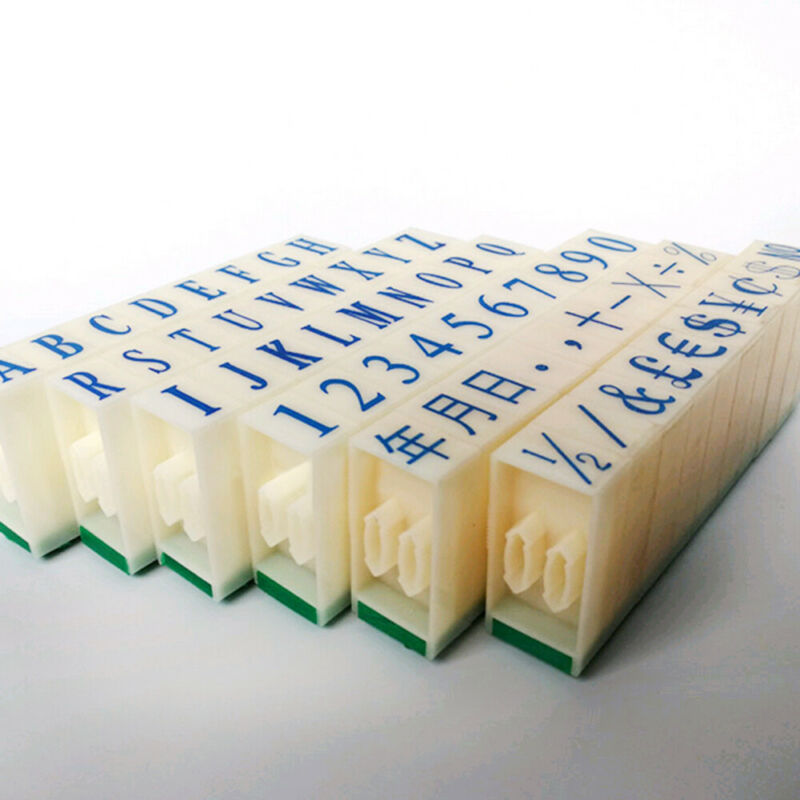 3 Type DIY English Alphabet Letter Number Rubber Stamp Free Combination Craft 12