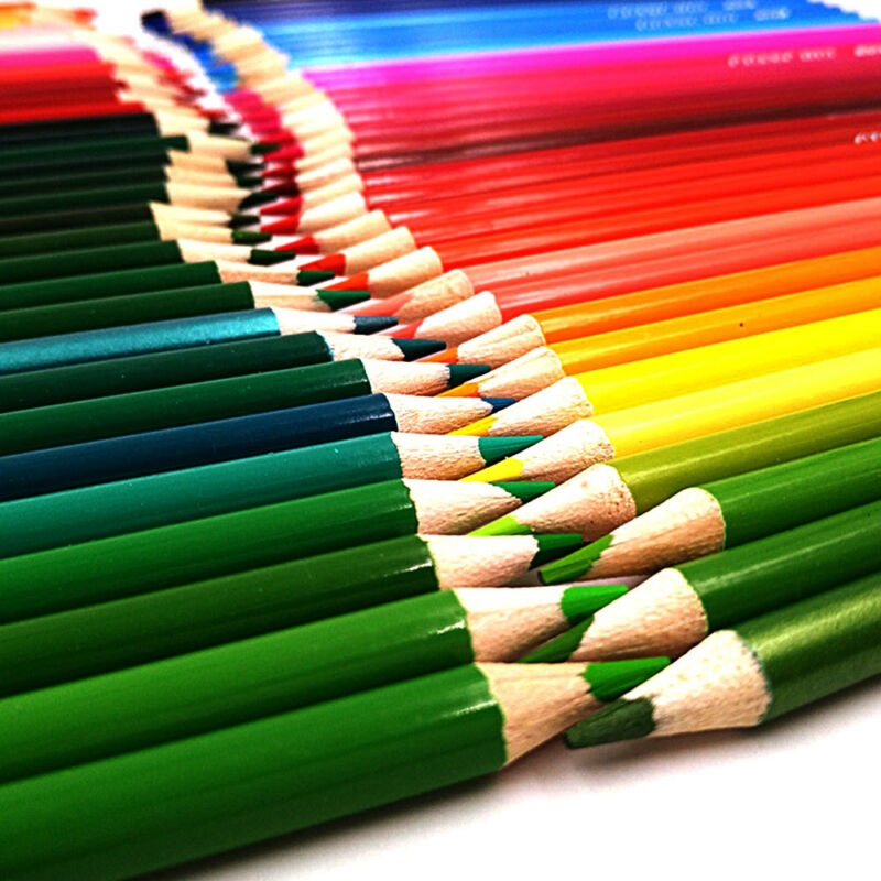 160 x Pro Colouring Pencil Set Drawing Artist Kids Colour Therapy In Tin UK 2