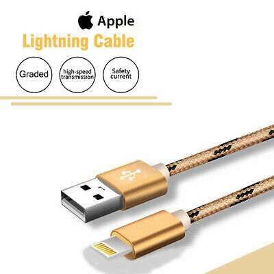 1M 2M 3M USB Lightning Charger Cable Cord Data for Apple iPhone iPad iPod Air 8