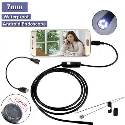 Endoscopio Camara Espia 2M PC Android inspección Coche Micro USB Smartphone 8