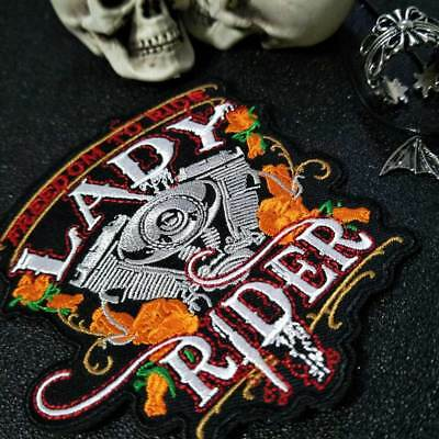 SEW OR IRON  ON  PATCH FREEDOM TO RIDE LADY RIDER  PATCH