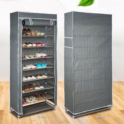 5 Of 7 50 Pairs 10 Tiers Portable Steel Stackable Shoe Rack Storage Cabinet  Organiser