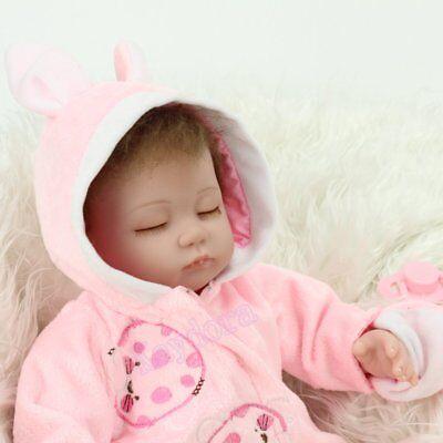 "16"" Sleeping Newborn Vinyl Silicone Reborn Baby Doll Handmade Xmas Gift Girl Toy 9"