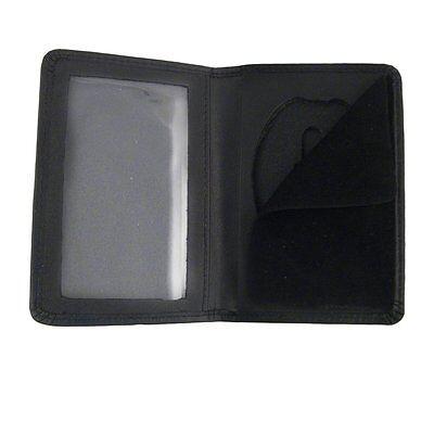 BADGE CASE Black leather without monogram fits most standard size shield badges